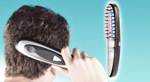 Infračervený hrebeň pre pánov proti vypadávaniu vlasov + holiaci strojček zdarma.